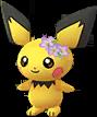 Pichu couronne de fleurs Chromatique