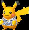 Pikachu chemise Kariyushi d'Okinawa chromatique