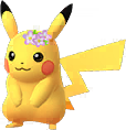 Pikachu couronne de fleurs