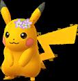 Pikachu couronne de fleurs Chromatique