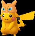 Pikachu Dracaufeu chromatique