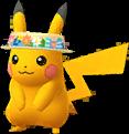 Pikachu visière fleurie chromatique