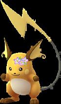 Raichu couronne de fleurs
